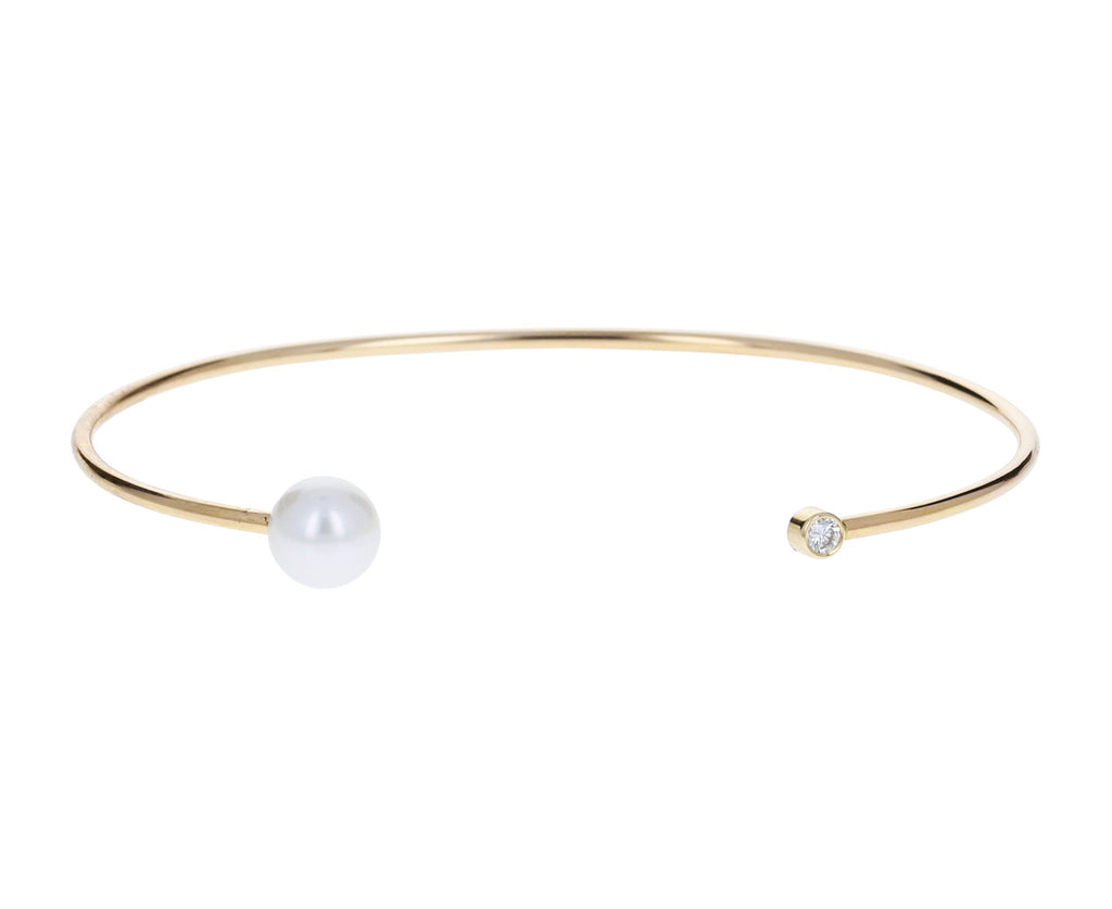 Pearl and Diamond Cuff Bracelet