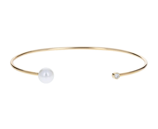 Pearl and Diamond Cuff Bracelet - TWISTonline