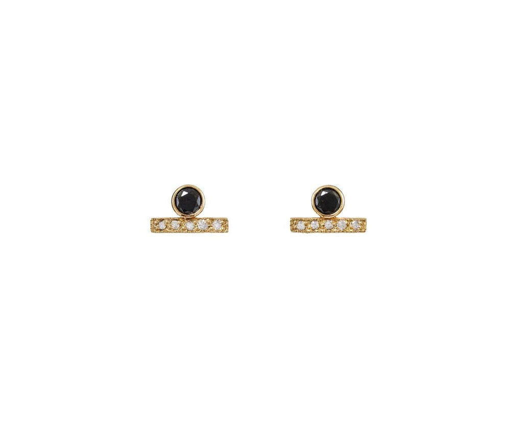 Black and White Diamond Stud Earrings - TWISTonline