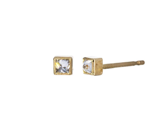 Princess Cut Inverted Diamond Stud Earrings - TWISTonline