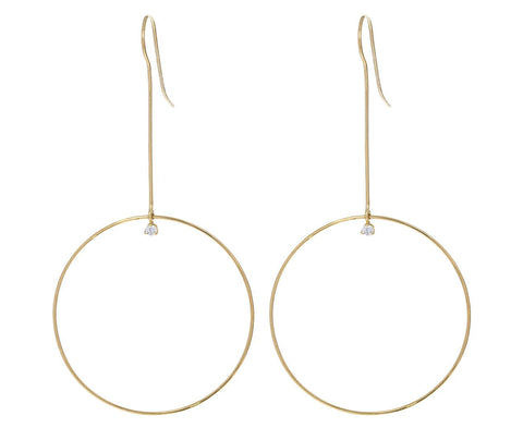 Long Circle Drop Earrings with Diamonds zoom 1_zoe_chicco_gold_diamond_drop_circle_earrings