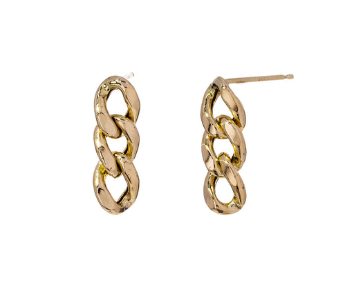 Curb Chain Stud Earrings