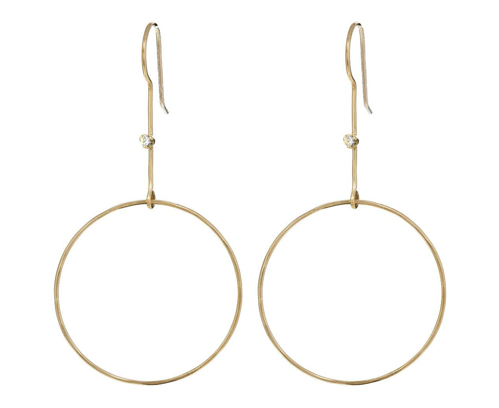 Long Circle Drop Earrings - TWISTonline