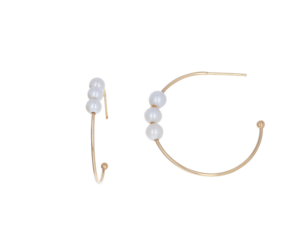Triple Pearl Hoops - TWISTonline