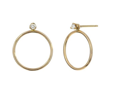 Diamond Loop Earrings - TWISTonline