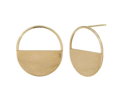 Round Horizon Earrings zoom 1_zoe_chicco_gold_horizon_earrings