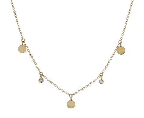 Diamond Disc Dangling Necklace - TWISTonline