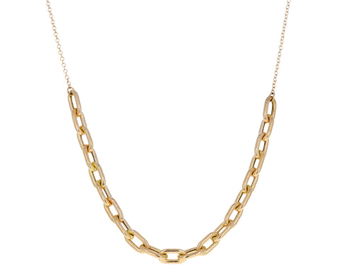 Gold Link Station Necklace