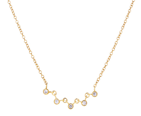 Linked Diamond Chain Necklace