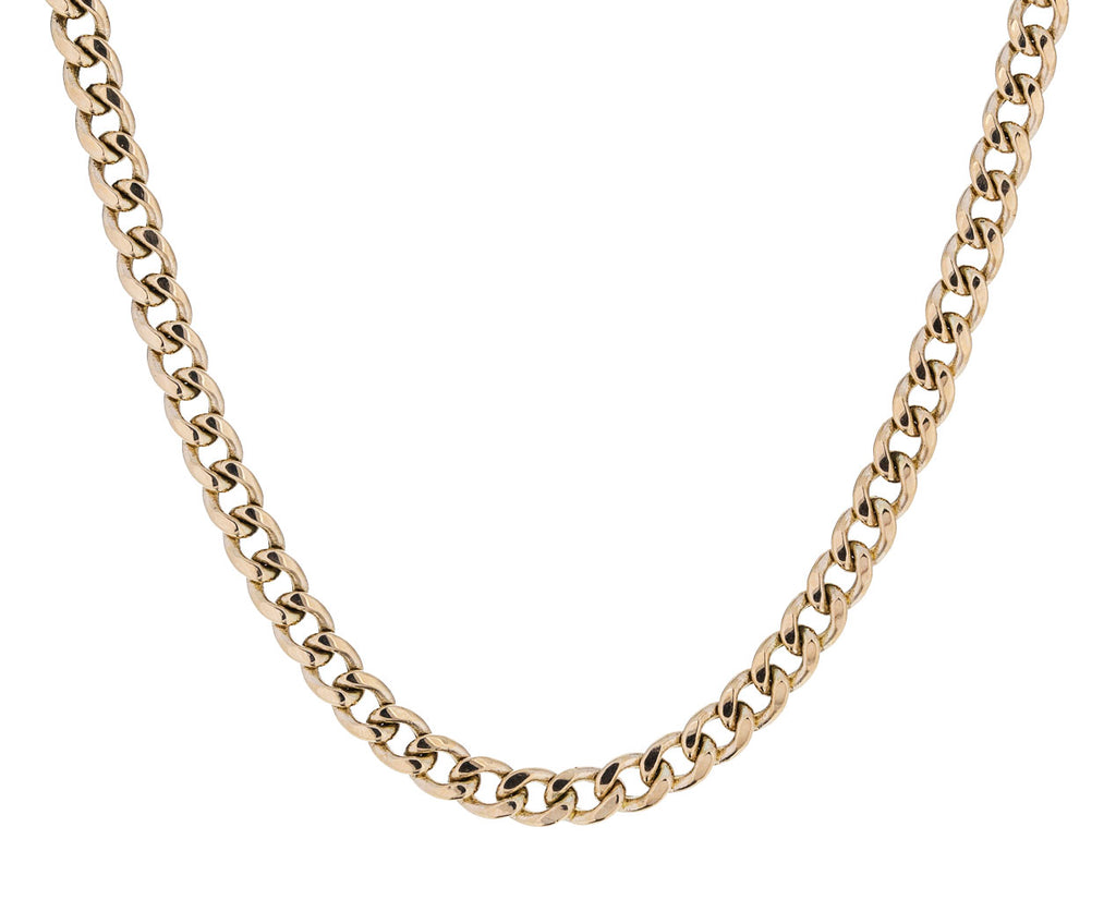Medium Gold Curb Chain Necklace - TWISTonline