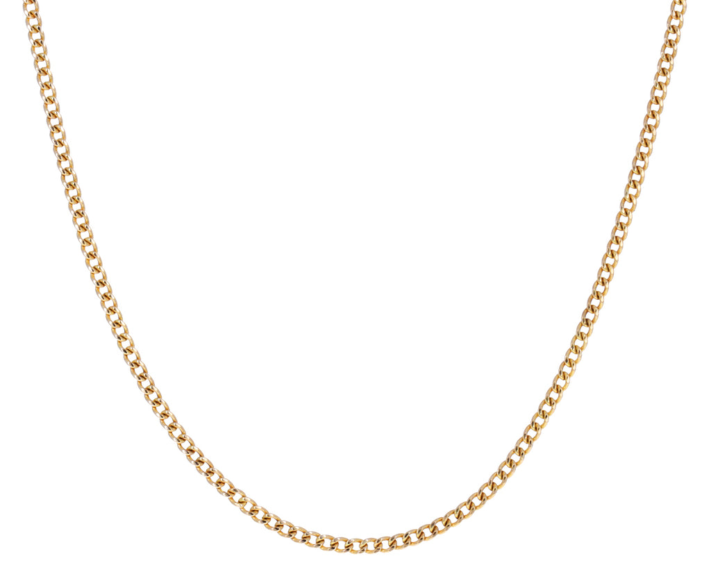 Extra Small Gold Curb Chain Necklace