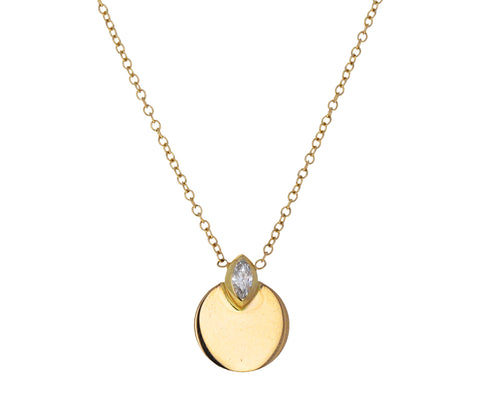 Marquise Diamond Small Circle Horizon Necklace