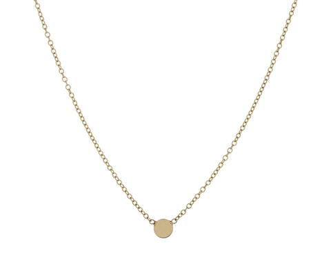 Itty Bitty Gold Disc Necklace