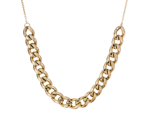 Wide Curb Chain Necklace