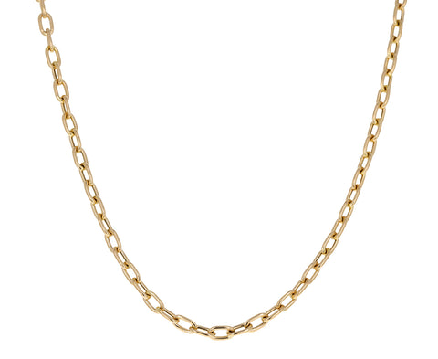 Medium Square Oval Link Chain Necklace