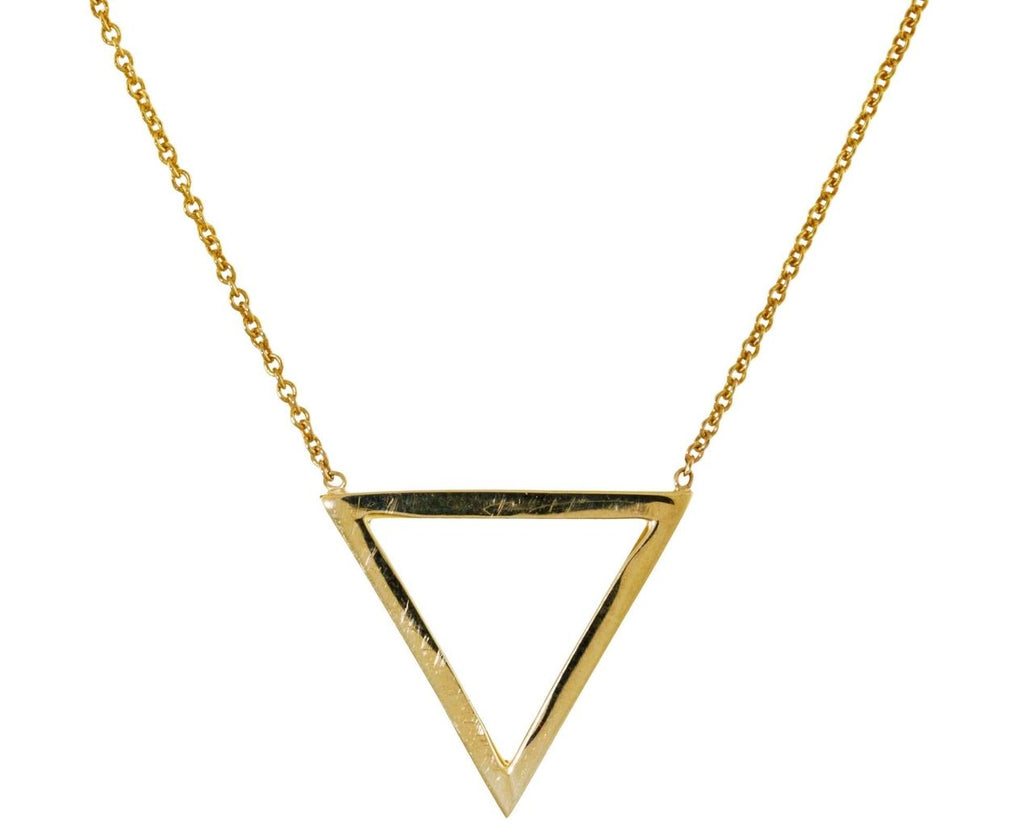 Open Triangle Pendant Necklace - TWISTonline