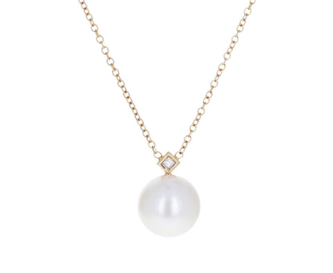 Diamond and Pearl Pendant Necklace - TWISTonline