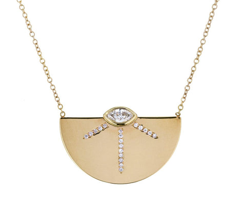 Marquise Diamond Horizon Pendant Necklace - TWISTonline