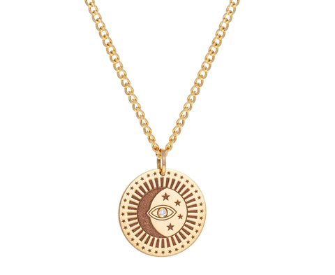 Celestial Protection Medallion Necklace