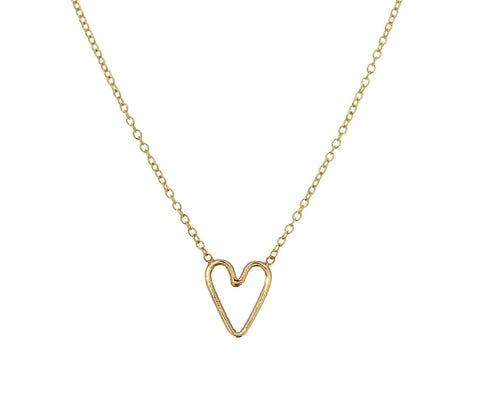 Open Heart Pendant Necklace - TWISTonline