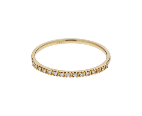 Yellow Gold Diamond Half Eternity Band
