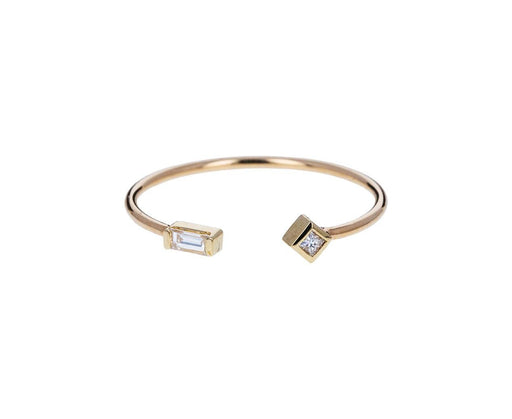 Baguette Diamond Cuff Ring - TWISTonline