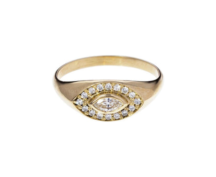 Marquise Diamond Signet Ring - TWISTonline