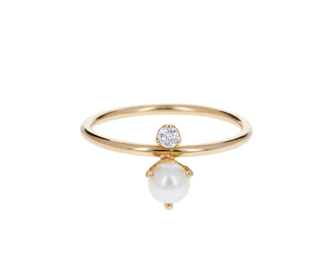 Diamond and Pearl Ring - TWISTonline