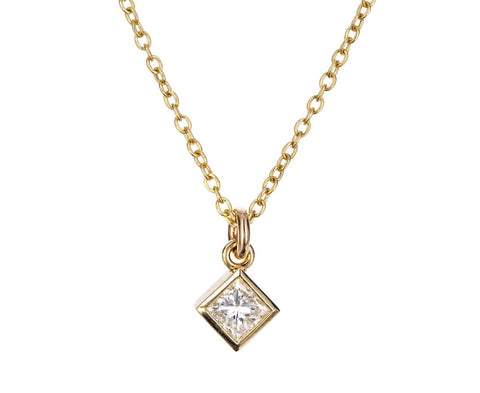 Princess Cut Diamond Pendant Necklace zoom 1_zoe_chicco_gold_princess_cut_diamond_necklace