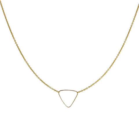 Hammered Triangle Necklace zoom 1