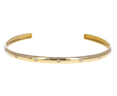Scattered Diamond Cuff Bracelet