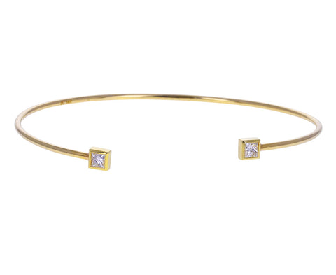 Princess Cut Diamond Cuff Bracelet
