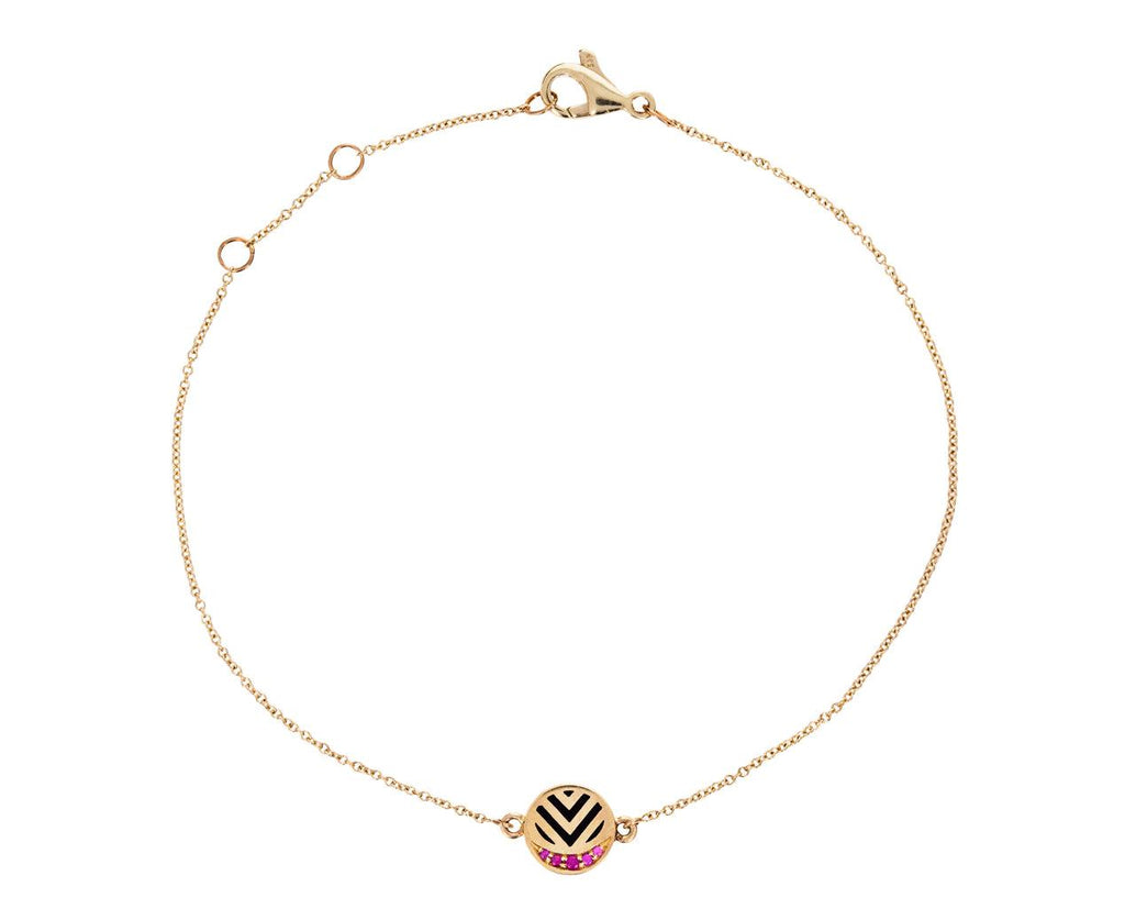Lacquer and Ruby Memphis Chevron Bracelet - TWISTonline