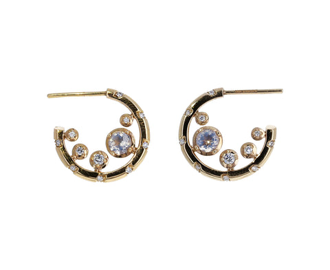Quartz and Diamond Memphis Bubble Kimono Hoops