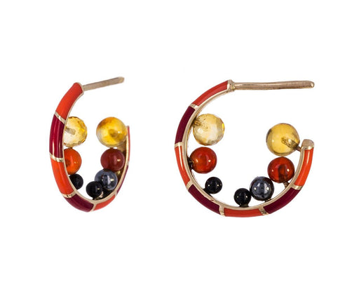 Candy Kimono Nibble Hoop Earrings - TWISTonline