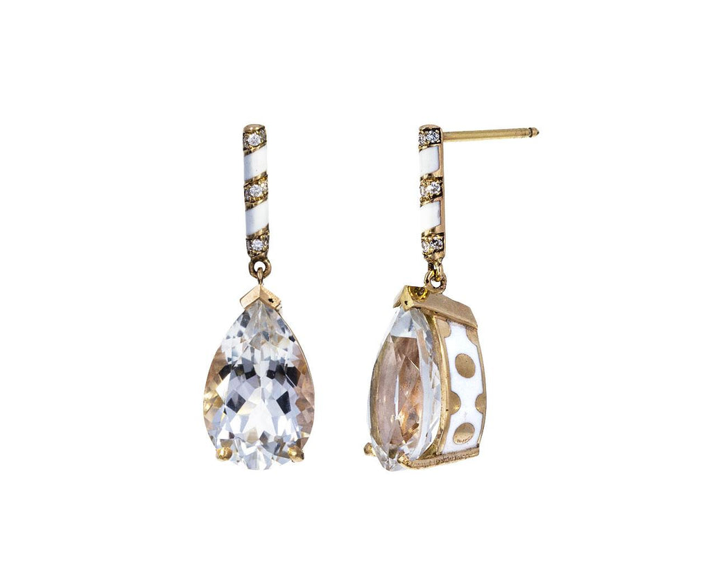 Topaz and Diamond Lacquer Earrings - TWISTonline