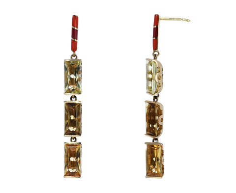 Memphis Bubble Baguette Dangle Earrings