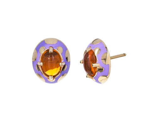 Fire Opal Lacquer Earrings - TWISTonline