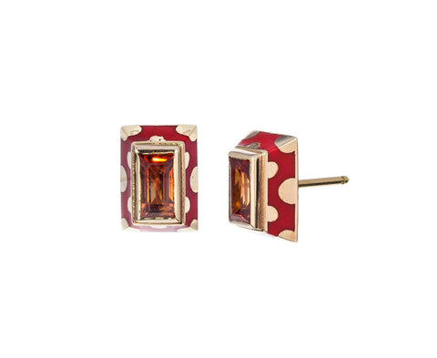 Orange Sapphire and Lacquer Earrings - TWISTonline