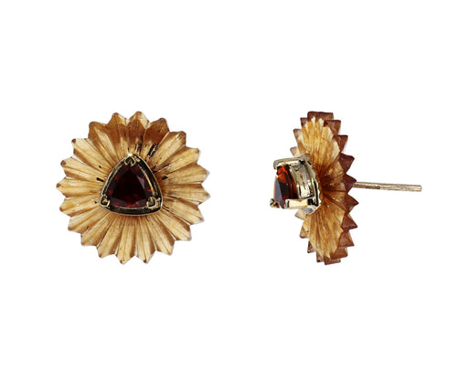 Garnet and Citrine Summer Snow Earrings - TWISTonline