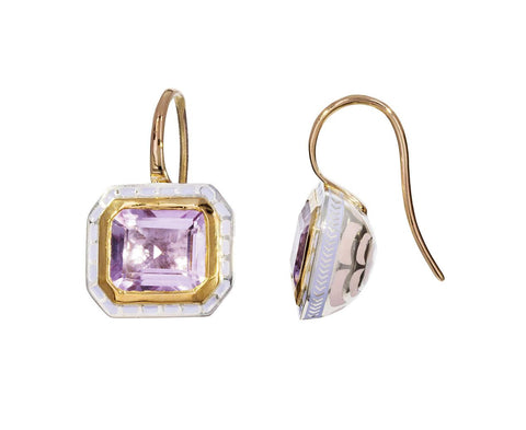 Amethyst Lacquer Earrings - TWISTonline