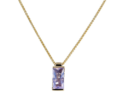 Lavender Moonstone and Diamond Memphis Bubble Necklace - TWISTonline
