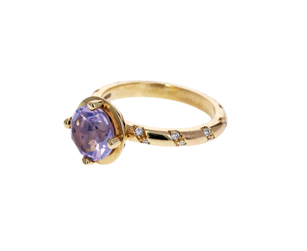 Lavender Moonstone and Diamond Memphis Bubble Ring - TWISTonline
