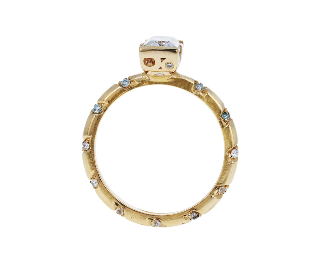 Memphis Bubble Pave Baguette Ring - TWISTonline