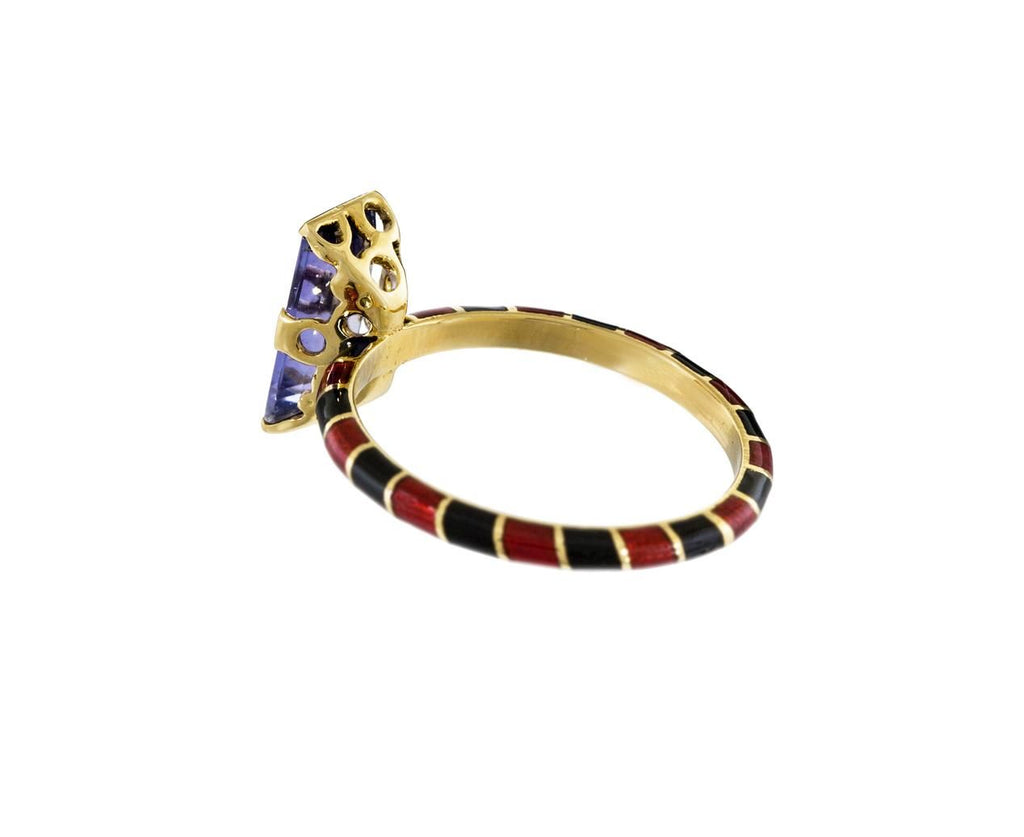 Memphis Candy Baguette Ring with Iolite - TWISTonline