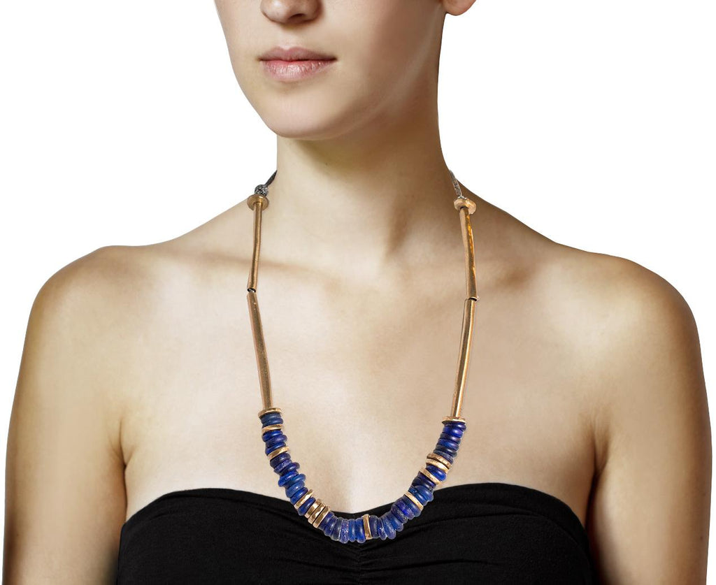Cobalt Dogon Bead Necklace - TWISTonline