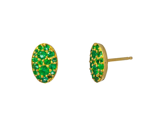 Tsavorite Garnet Oval Stud Earrings