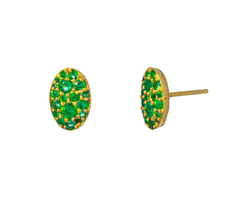 Tsavorite Garnet Oval Stud Earrings - TWISTonline