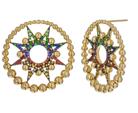 Sapphire Apollo Star Earrings - TWISTonline