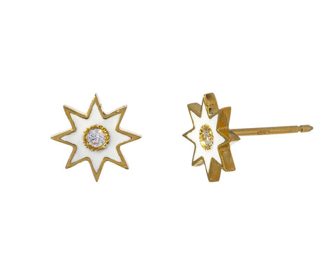 White Twinkle Star Stud Earrings - TWISTonline